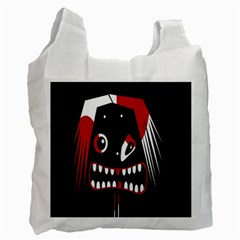 Zombie Face Recycle Bag (two Side)  by Valentinaart