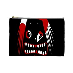 Zombie Face Cosmetic Bag (large)  by Valentinaart
