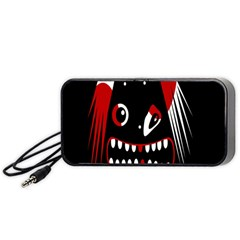 Zombie Face Portable Speaker (black)  by Valentinaart