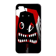 Zombie Face Apple Iphone 4/4s Seamless Case (black) by Valentinaart