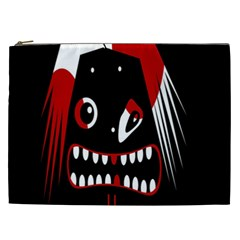 Zombie Face Cosmetic Bag (xxl)  by Valentinaart