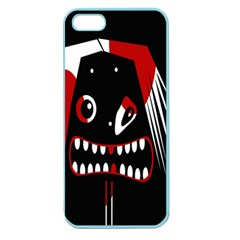 Zombie Face Apple Seamless Iphone 5 Case (color) by Valentinaart