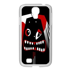 Zombie Face Samsung Galaxy S4 I9500/ I9505 Case (white) by Valentinaart