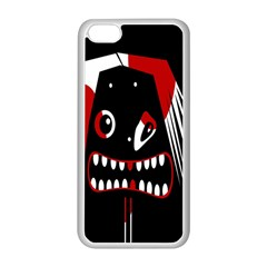 Zombie Face Apple Iphone 5c Seamless Case (white) by Valentinaart