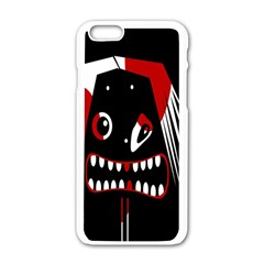 Zombie Face Apple Iphone 6/6s White Enamel Case by Valentinaart
