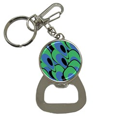 Peacock Pattern Bottle Opener Key Chains by Valentinaart