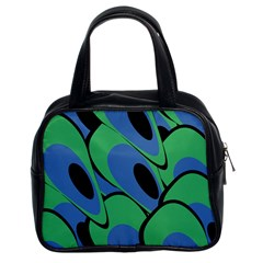 Peacock Pattern Classic Handbags (2 Sides) by Valentinaart