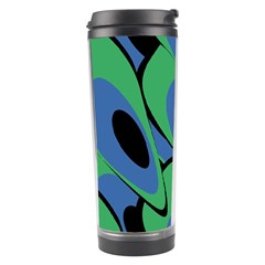 Peacock Pattern Travel Tumbler by Valentinaart