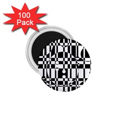 Black And White Pattern 1 75  Magnets (100 Pack)  by Valentinaart