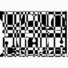 Black And White Pattern Collage Prints by Valentinaart