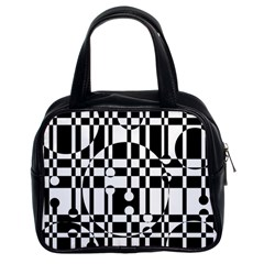 Black And White Pattern Classic Handbags (2 Sides) by Valentinaart