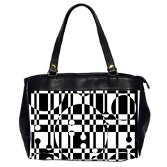 Black And White Pattern Office Handbags (2 Sides)  by Valentinaart