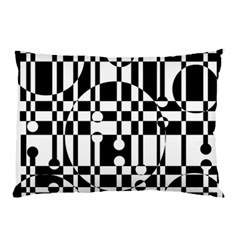 Black And White Pattern Pillow Case (two Sides) by Valentinaart