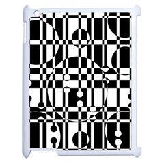 Black And White Pattern Apple Ipad 2 Case (white) by Valentinaart