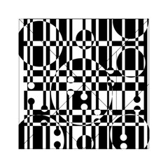 Black And White Pattern Acrylic Tangram Puzzle (6  X 6 ) by Valentinaart