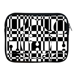Black And White Pattern Apple Ipad 2/3/4 Zipper Cases by Valentinaart