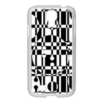 Black and white pattern Samsung GALAXY S4 I9500/ I9505 Case (White) Front