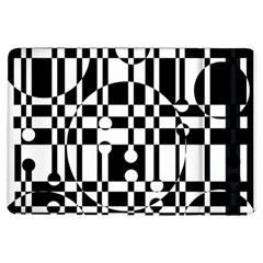 Black And White Pattern Ipad Air Flip by Valentinaart