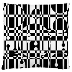 Black And White Pattern Standard Flano Cushion Case (two Sides) by Valentinaart
