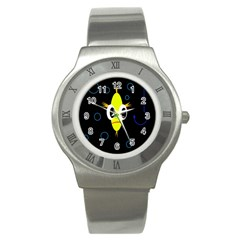 Yellow Fish Stainless Steel Watch by Valentinaart