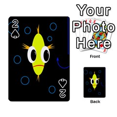 Yellow Fish Playing Cards 54 Designs  by Valentinaart