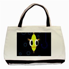 Yellow Fish Basic Tote Bag (two Sides) by Valentinaart