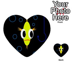 Yellow Fish Multi Purpose Cards (heart)