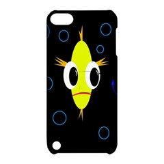Yellow Fish Apple Ipod Touch 5 Hardshell Case With Stand by Valentinaart