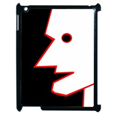 Man Apple Ipad 2 Case (black) by Valentinaart