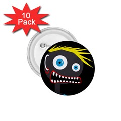 Crazy Man 1 75  Buttons (10 Pack) by Valentinaart