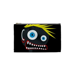 Crazy Man Cosmetic Bag (small)  by Valentinaart