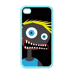 Crazy Man Apple Iphone 4 Case (color) by Valentinaart