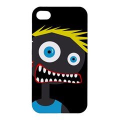 Crazy Man Apple Iphone 4/4s Premium Hardshell Case by Valentinaart