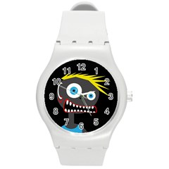 Crazy Man Round Plastic Sport Watch (m)