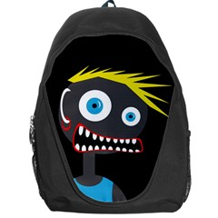 Crazy Man Backpack Bag by Valentinaart