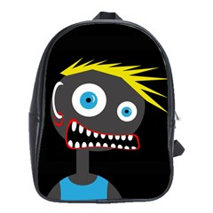 Crazy Man School Bags (xl)  by Valentinaart