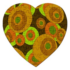 Brown Pattern Jigsaw Puzzle (heart) by Valentinaart