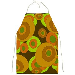Brown Pattern Full Print Aprons by Valentinaart