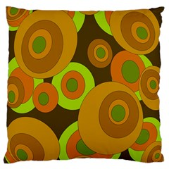 Brown Pattern Large Cushion Case (two Sides) by Valentinaart