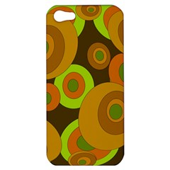 Brown Pattern Apple Iphone 5 Hardshell Case by Valentinaart