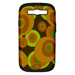 Brown Pattern Samsung Galaxy S Iii Hardshell Case (pc+silicone) by Valentinaart