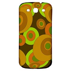 Brown Pattern Samsung Galaxy S3 S Iii Classic Hardshell Back Case by Valentinaart