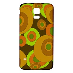 Brown Pattern Samsung Galaxy S5 Back Case (white) by Valentinaart