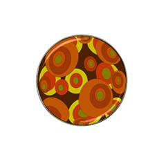Orange Pattern Hat Clip Ball Marker (4 Pack) by Valentinaart