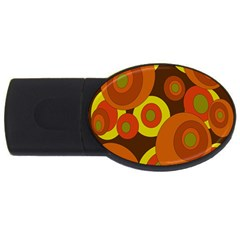 Orange Pattern Usb Flash Drive Oval (4 Gb)  by Valentinaart