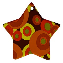 Orange Pattern Star Ornament (two Sides)  by Valentinaart