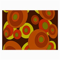 Orange Pattern Large Glasses Cloth (2 Side) by Valentinaart