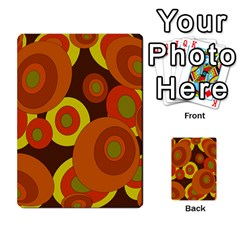 Orange Pattern Multi Purpose Cards (rectangle)  by Valentinaart
