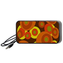 Orange Pattern Portable Speaker (black)  by Valentinaart