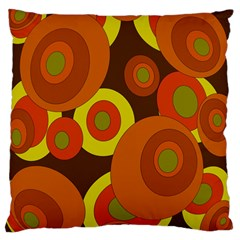 Orange Pattern Large Cushion Case (one Side) by Valentinaart